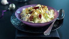 Waldorfsalat Waldorf Salat, Scandinavian Food, Danish Food, Chorizo, Finger Foods, Guacamole, Bruschetta, Potato Salad, Macaroni And Cheese