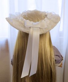 American Girl Doll Clothes - Doll Hat - Spring Special Occasion Hat - Flower Girl or First Communion