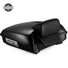AdvanBlack Vivid Black Razor Tour Pack Pak Backrest Pad for 2014-2017 Harley Davidson Street Road Electra Glide Road King