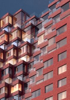Dutch architecture firm MVRDV has won a competition to design a 78-metre tall mixed-use building with a red ceramic facade, to be a symbolic gateway to Moscow.