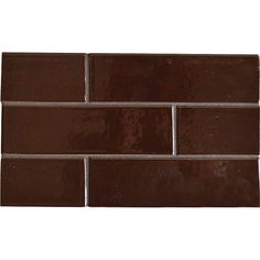 Old Port Brown Gloss Ceramic Tiles 2 1/8x7 1/2