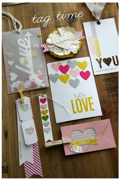 valentine tags by inspiration-ave (my favorite is the glitter heart ticket!)