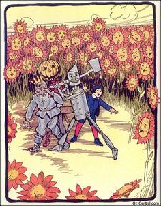 Scarecrow King, Tin Woodman, Jack Pumpkinhead  of Oz, illustrated by John R. Neill