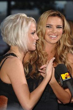 Sarah Harding and Nadine Coyle.  Blend sides into back more than this.