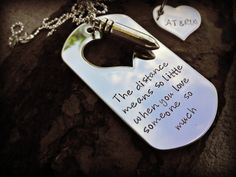 Deployment Necklace  Military Sepration  Hand by CharmletteDesigns, $30.00