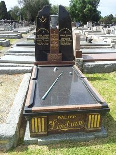 Walter Albert Lindrum - Often known as Wally Lindrum, was an Australian professional player of English billiards who held the World Professional Billiards Championship from 1933 until his retirement in Diy Pool Table, Custom Pool Tables, Famous Graves, Still Standing, Bowling, Cemetery, Tombstone Sayings, Retirement, All About Time