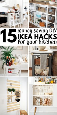 15 IKEA Kitchen Hacks for an organized and beautiful kitchen with a small budget . - Ikea DIY - The best IKEA hacks all in one place Ikea Kitchen Organization, Ikea Hack Storage, Kitchen Wall Storage, Storage Ideas, Organization Ideas, Budget Storage, Diy Storage, Ikea Small Kitchen, Ikea Bathroom Storage