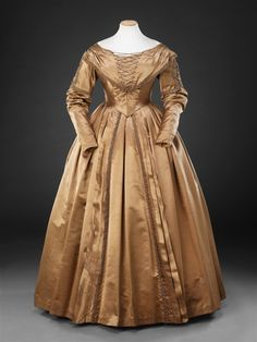 Day dress, early 1840′sFrom the John Bright Historic Costume...