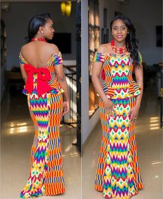 This post can show you the most recent kente designs 2019 has future for you. we have collected the best 77 styles of Latest Kente Designs For Ghanaian Wedding 2019 from African styles attires. Ghana Fashion, African Print Fashion, Africa Fashion, African Print Dresses, African Fashion Dresses, African Dress, African Clothes, Ankara Fashion, African Prints