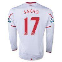 15-16 Liverpool Football Shirt Cheap SAKHO #17 Long Sleeve Away Replica Jersey [C181]