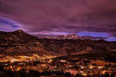 Pikes Peak at night.  Lars Leber Photography