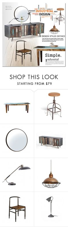 """""""Industrial Living"""" by cruzeirodotejo ❤ liked on Polyvore featuring interior, interiors, interior design, home, home decor, interior decorating, House Doctor, CO, Design House Stockholm and Home"""