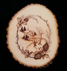 wood burning on basswood by Debbie Griggs
