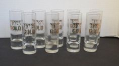 #ebay Set of 10 tall Shot Glasses ROMANA BLACK GOLD SCHLAGER (2.5 fl oz each) withing our EBAY store at  http://stores.ebay.com/esquirestore
