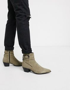 Buy ASOS DESIGN cuban heel western chelsea boots in black faux suede with diamante and strap detail at ASOS. With free delivery and return options (Ts&Cs apply), online shopping has never been so easy. Get the latest trends with ASOS now. Suede Leather, Leather Boots, Suede Boots, Clarks Originals Desert Boot, Platform Chelsea Boots, Timberland Classic, Asos, Ugg Classic Short