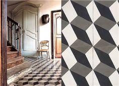 Black / white / grey cement tile