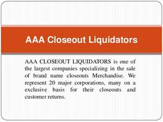 AAA Closeout Liquidators| Closeout buyer| Toys closeouts| Overstock Buyers