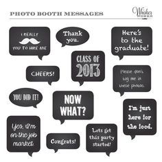DIY Photo Booth Printables - Chalkboard Signs - GRADUATION via Etsy