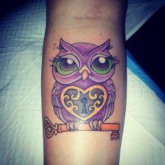 Custom Owl Tattoo