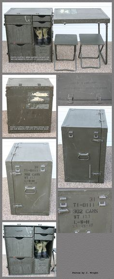 Creating an Army Bedroom Airsoft, Army Bedroom, Campaign Furniture, Folding Furniture, Vintage Medical, Teen Room Decor, Man Room, Built In Storage, Home Staging