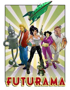 Over 25 different Fan art of Futurama