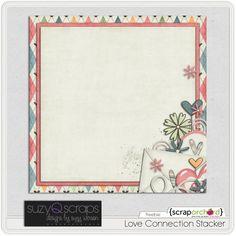 """Love Connection"" stacked paper #freebie at SuzyQScraps.com #digiscrap #digifree"