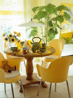 Loving the modern chairs with the pine table! Mix it up!