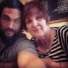 Pin for Later: 27 Times Jason Momoa Almost Burst Out of His Shirt (and We All Crossed Our Fingers) When he wished his mom a happy birthday, and we thanked her (and his shirt) for giving a gift to humanity.