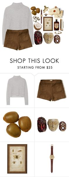 """Don't be a coconut"" by lsaroskyl ❤ liked on Polyvore featuring Line, Hollister Co., Rolex and eliurpi"