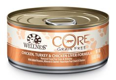 Wellness CORE Natural Grain Free Wet Canned Cat Food, 5.5-Ounce Can (Pack of 24) >>> For more information, visit image link.