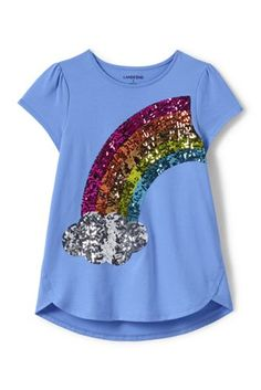1d2754639ff Try our Girls Aline Embellished Graphic Knit Tee at Lands  End.