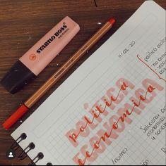 Bullet Journal Notes, Bullet Journal Lettering Ideas, Bullet Journal School, Class Notes, School Notes, Pretty Notes, Good Notes, Lettering Tutorial, Hand Lettering