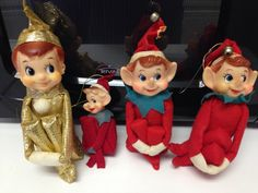 Set of 4 Vintage Pixie Elves by thetrendykitchen on Etsy