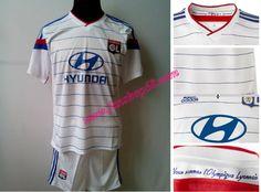 Neueste Neues Lyon 2014 2015 Weiß Adidas Home Fussball Trikot Billig Fan Shop Kaufen