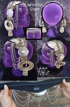 PLEASE READ ENTIRE DESCRIPTION BEFORE PURCHASING  This headdress has some very nice pieces on it: some sterling silver, but not the majority of
