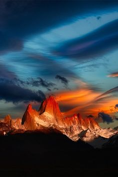 Fitz Roy mountain in El Chaltén, Patagonia, Argentina