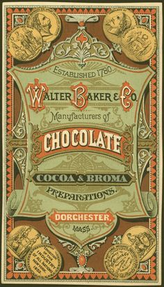 Victorian 'Walter Baker & Co. Chocolate' trade card