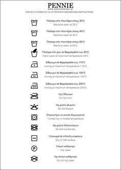 wash instructions, all be it in russian and english, but it tells you what those little symbols mean!