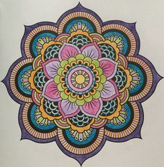 Mandala colourling