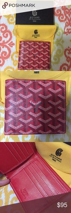 Goyard Men wallet Inspired with box and dust bag Goyard Bags Wallets