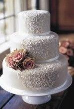 Cake idea but lace all the way around!