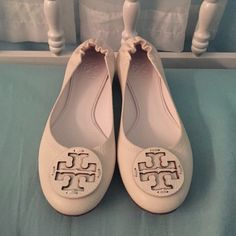 Tory Burch Flats White Tory Burch flats. Never been worn!! Still have the original dust bags. I can't wear them because they are sadly not my size  Tory Burch Shoes Flats & Loafers