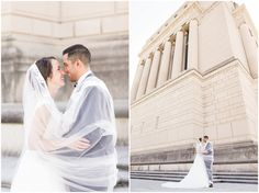 Indianapolis Spanish Catholic Wedding \\ We took the Indy 500 Weekend by storm with Bride and Groom portraits at the War Memorial, White River State Park with rosaries around the bouquets and chaplets of Mary on every corsage.