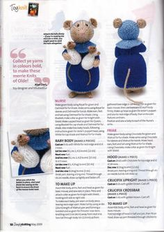 Simply Knitting - May 2009 - Laura C - Picasa Webalbums pg from album Simply Knitting May 2009 on Yandex.Tails of Yore - Alan Dart Animal Knitting Patterns, Knitted Doll Patterns, Christmas Knitting Patterns, Knitted Dolls Free, Crochet Dolls, Loom Knitting, Knitting Stitches, Knitting Toys, Simply Knitting