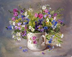 """""""Wild Flowers in the Victorian Mug""""  by Anne Cotterill"""