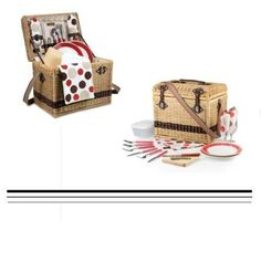 Picnic Basket for Two in Moka Yellowstone dark rattan with premium leatherette  #PicnicTime #CasesBagsBaskets