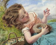 Sophie Anderson (1823-1903) - The Thrush's Nest (357 pieces)