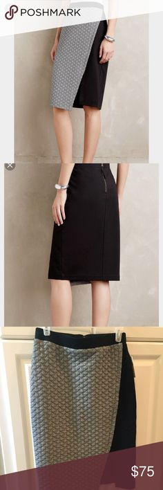 HD in Paris black pencil skirt. Size 8 This extremely comfortable pencil skirt feels like you're wearing pajamas. The slit hit me right above the knee. Choosing to sell because I feel too Va-Va Voom in this skirt Anthropologie Skirts Pencil