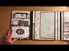 Photo Folio Expandable Mini Album Using Zella Teal Collection - YouTube