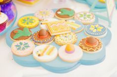Colorful Fiesta themed 1st birthday party via Kara's Party Ideas | Cake, decor, cupcakes, games and more! KarasPartyIdeas.com #fiestaparty #fiesta #partyideas #partydecor 32